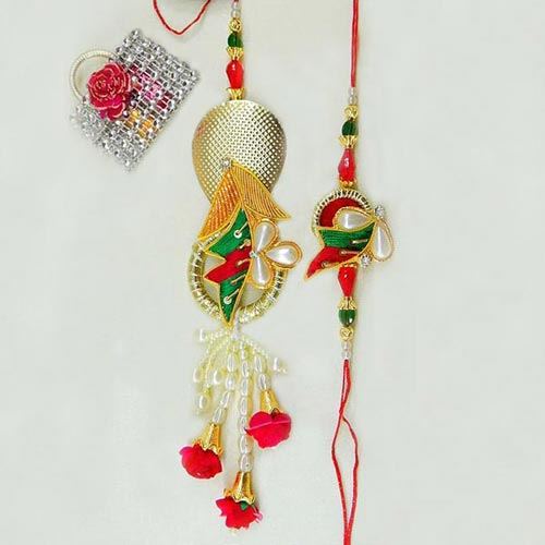 Splendid Rakhi Lumba Set
