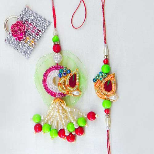 Blissful Rakhi Lumba Set - CANADA Delivery Only