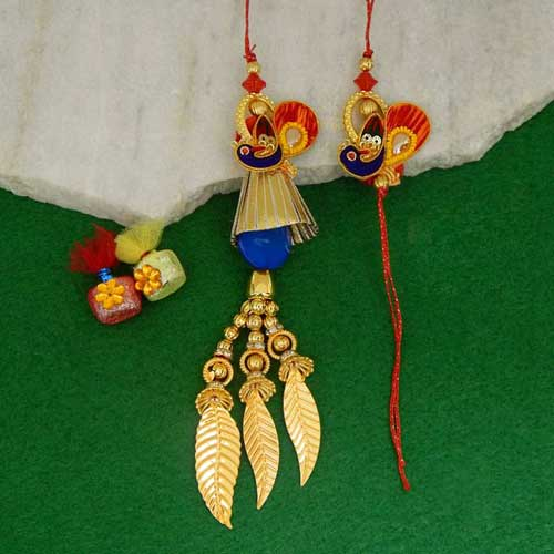 Beautiful Rakhi Lumba Set - CANADA Delivery Only
