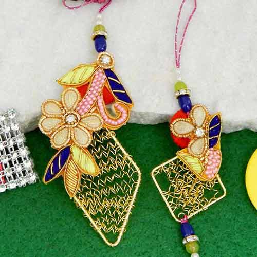 Glorious Rakhi Lumba Rakhi - UK Delivery Only