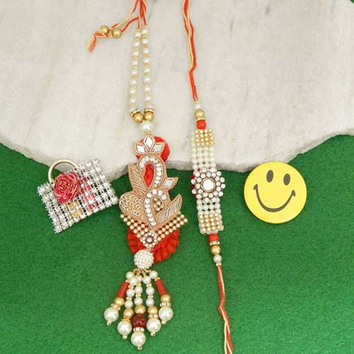 A Fetching Rakhi Lumba Set - Australia Delivery Only