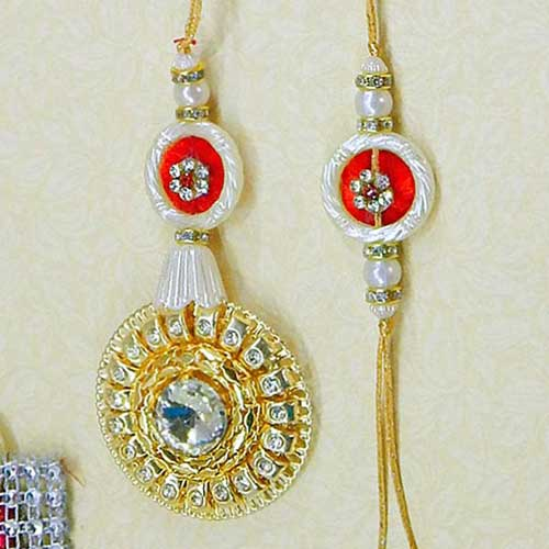 A Winsome Rakhi Lumba Set - UK Delivery Only