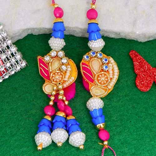 Angelic Rakhi Lumba Set - CANADA Delivery Only