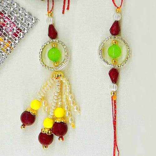 Charismatic Rakhi Lumba Set - CANADA Delivery Only