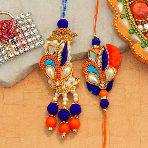 Alluring Rakhi Lumba Set - 2 - UK Delivery Only