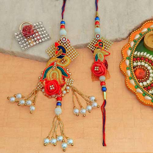 An Appealing Rakhi Lumba Set - UK Delivery Only