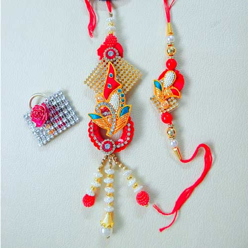 Charismatic Rakhi Lumba Set - 3 - Australia Delivery Only