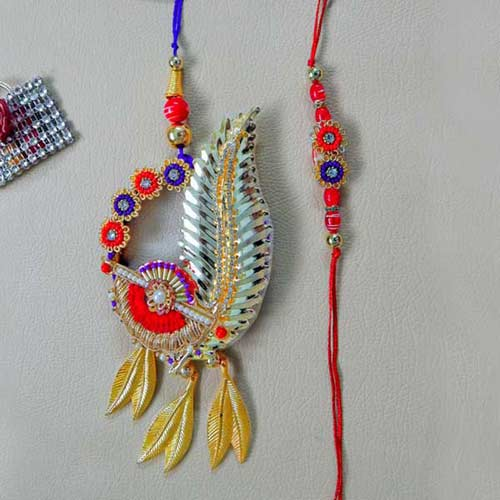 Enthralling Rakhi Lumba Set - Australia Delivery Only
