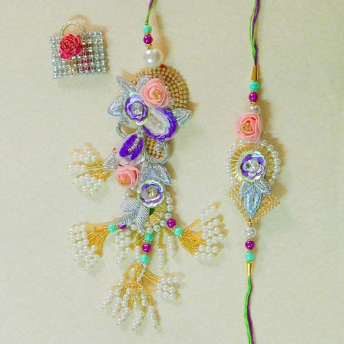 Exquisite Rakhi Lumba Set - 2 - UK Delivery Only