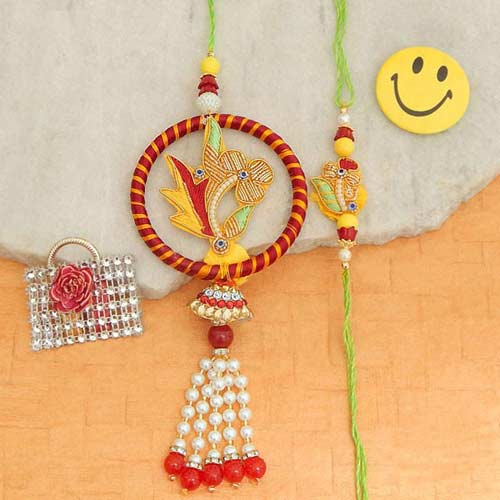 Fetching Rakhi Lumba Set - Australia Delivery Only