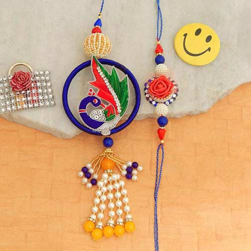 Winsome Rakhi Lumba Set - USA Delivery Only