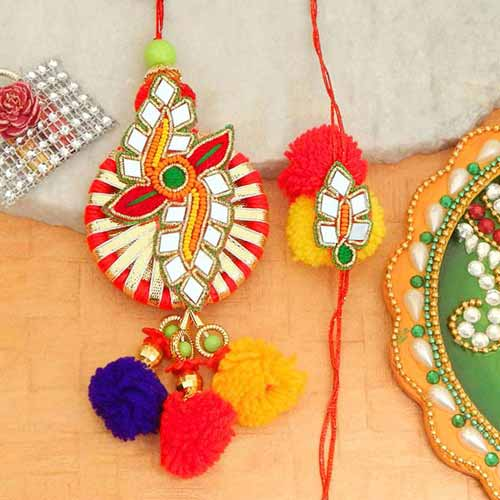Glorious Rakhi Lumba Set - 2 - CANADA Delivery Only