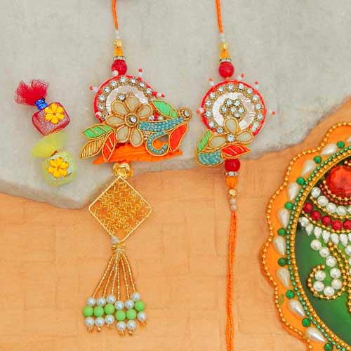 Graceful Rakhi Lumba Set - 2 - Add On