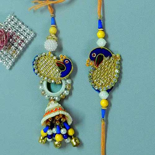 Tantalizing Rakhi Lumba Set - 3 - USA Delivery Only