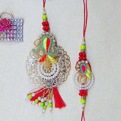 A Classy Rakhi Lumba Set - UK Delivery Only