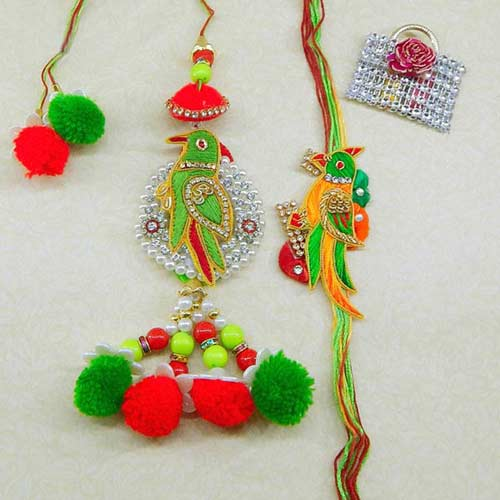 Dazzling Rakhi Lumba Set - 3