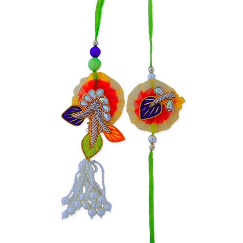 Graceful Bhaiya Bhabhi Rakhi - USA Delivery Only