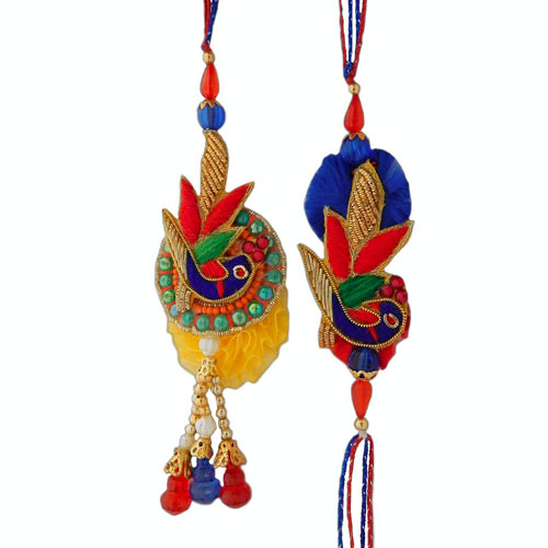 Ethnic Rakhi Lumba Set - USA Delivery Only