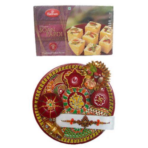 Lord Ganesh Puja Thali & Sonpapdi 250 gms