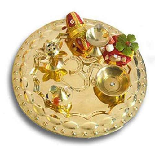 OM Brass Thali 17 - USA Delivery Only