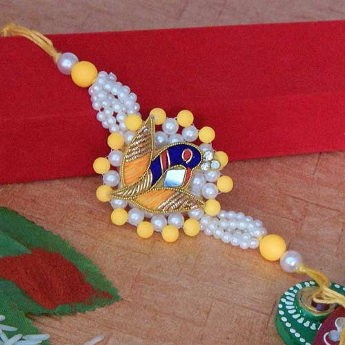 Marvellous Peacock Rakhi - USA Delivery Only