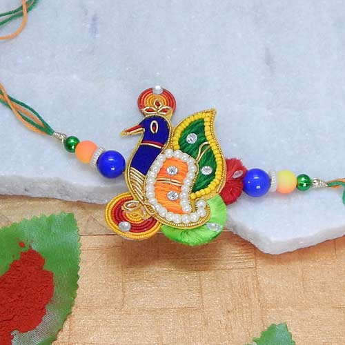 Best Peacock Rakhi - CANADA Delivery Only