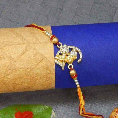 Diamond Lord Hanumaan Rakhi - USA Delivery Only