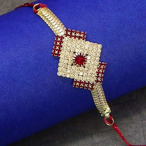 Small Diamonds Square Rakhi