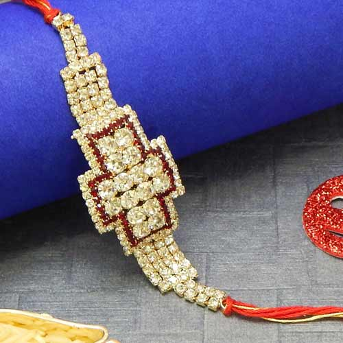 Designer Diamonds Rakhi - USA Delivery Only