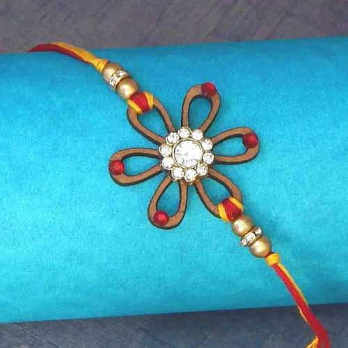Dazzling Floral Rakhi - USA Delivery Only