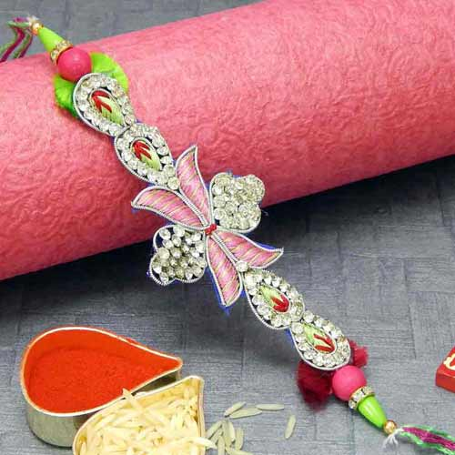 Charismatic Crystal Rakhi - USA Delivery Only