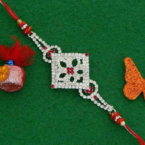 Exquisite Diamond Studded Rakhi - Add On