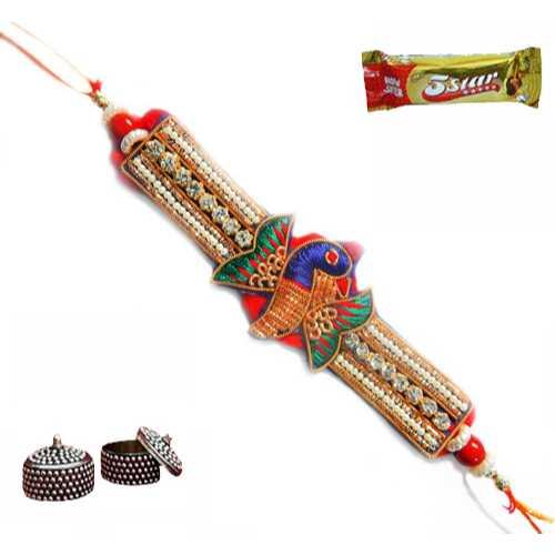 Bejewel Buti Rakhi - Australia Delivery Only