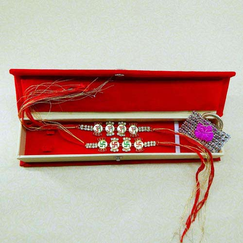 Rakhi Set - 07 With Rakhi Gift Box - Australia Delivery Only