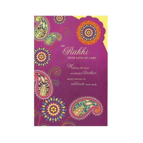 Greeting Card With Rakhi - 4