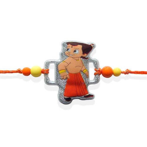 Silver Base Chota Bheem Rakhi - CANADA Delivery Only