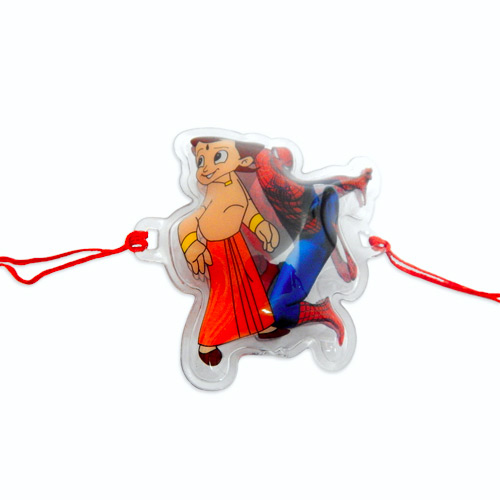 Most Exciting Spider Man & Chota Bheem Rakhi - CANADA Delivery