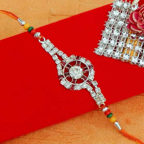 Dial shape diamond Rakhi - Add On