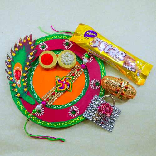 Exclusive Feather Wooden Thali - UK Delivery Only