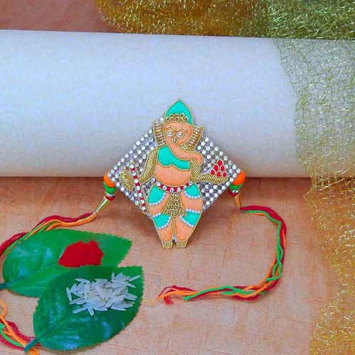 Shree Ganeshji Maharaj Rakhi - USA Delivery Only
