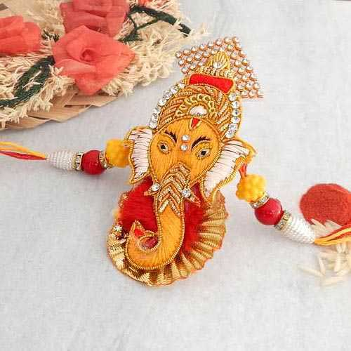 Divine Ganesh Ji Rakhi - USA Delivery Only