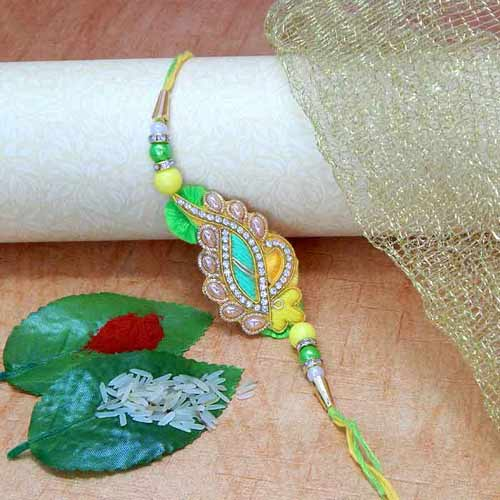 Tantalizing Floral Rakhi - USA Delivery Only