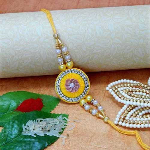 Smashing Floral Rakhi - USA Delivery Only
