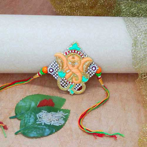 Auspicious Ganeshji Rakhi - UK Delivery Only