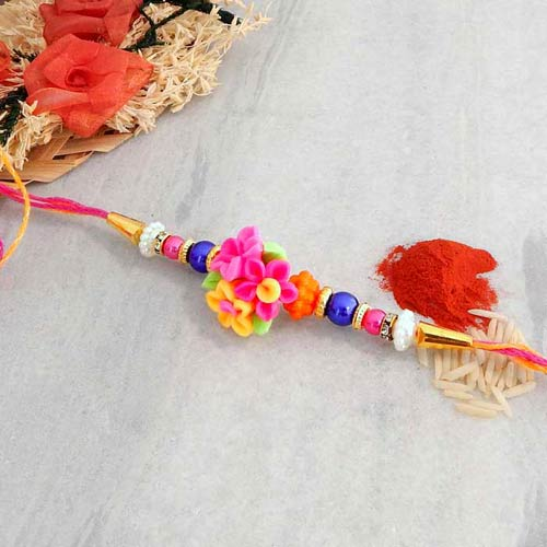 Best Of All Floral Rakhi - USA Delivery Only
