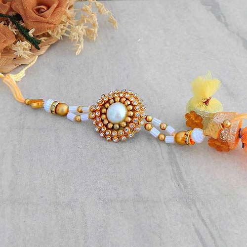 Graceful Floral Rakhi - USA Delivery Only