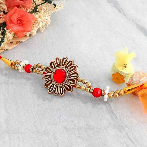 Floral Smashing Rakhi - CANADA Delivery Only