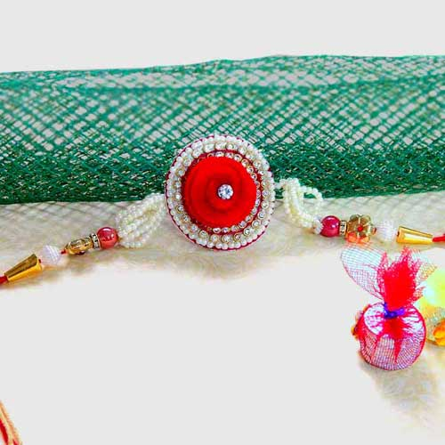 Pretty Pearl Rakhi - USA Delivery Only