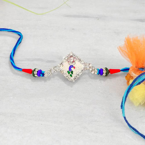 Tantalizing Silver Rakhi - USA Delivery Only