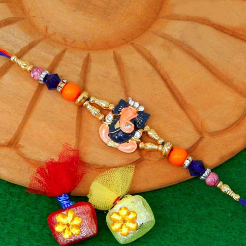 Ganeshji Divine Rakhi - USA Delivery Only